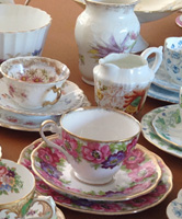 Vintage china to hire for place settings